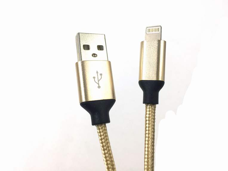 宏浩达新品铝合金iPhone数据线工厂专业定制